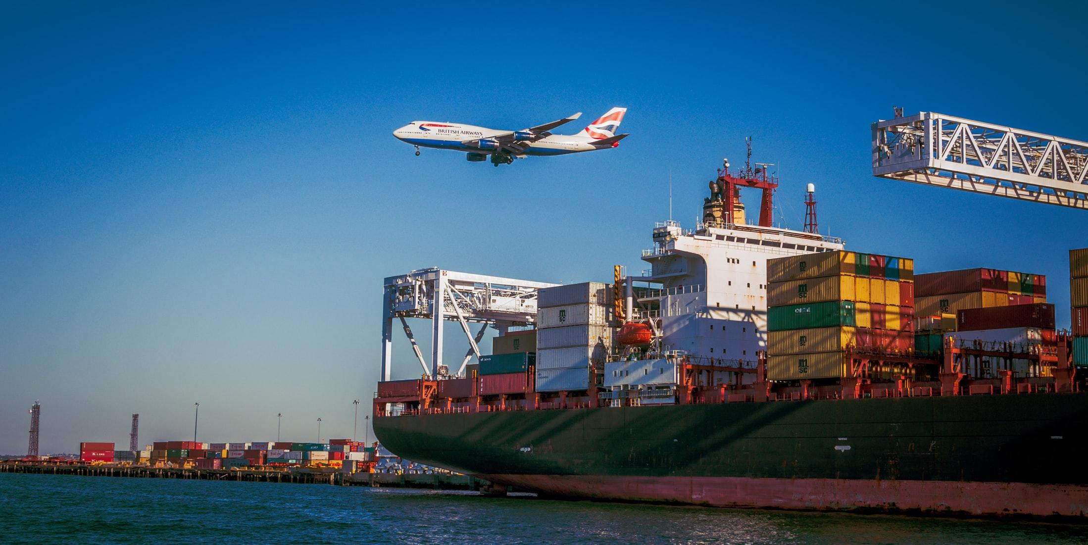 ship and airplane