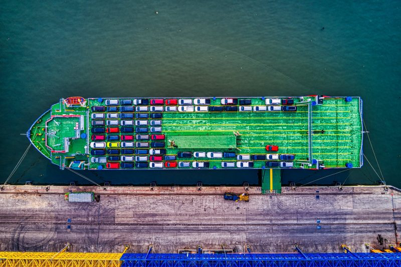 Ship shipping cars
