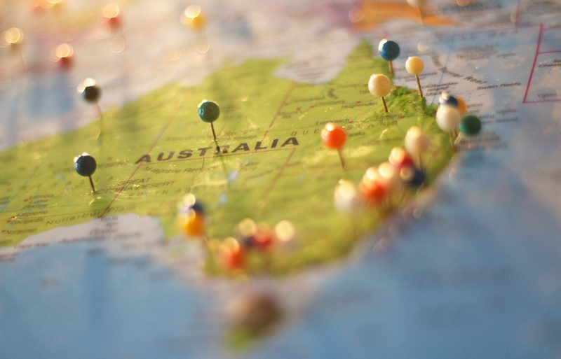 Paper map Australia | Customs Clearance World